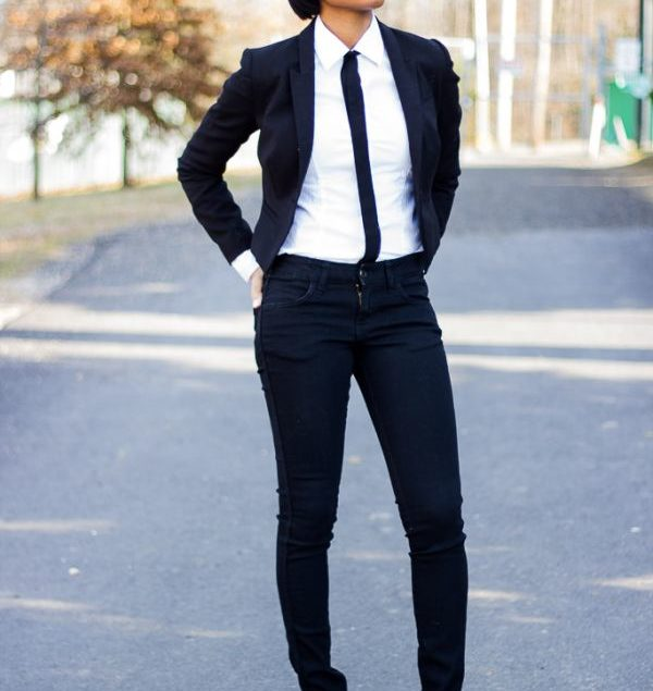 f39839ae3 Woman in suit and tie
