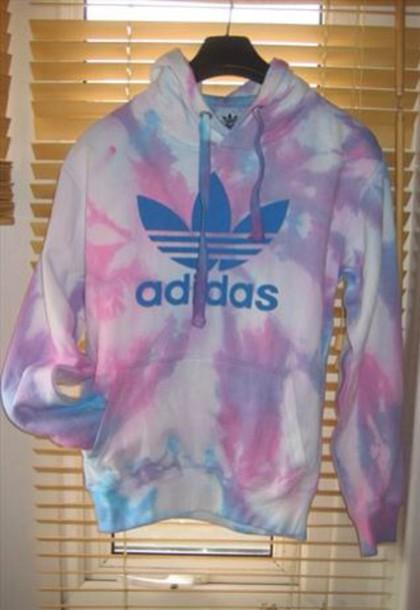 adidas tie dye hoodie photo - 1