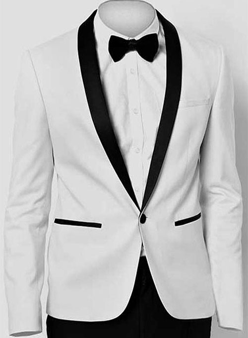 all black tux with red tie photo - 1