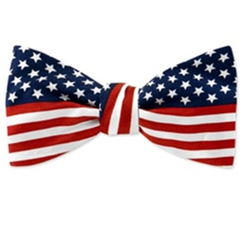 american flag bow tie photo - 1