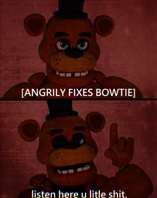 angrily fixes bow tie photo - 1