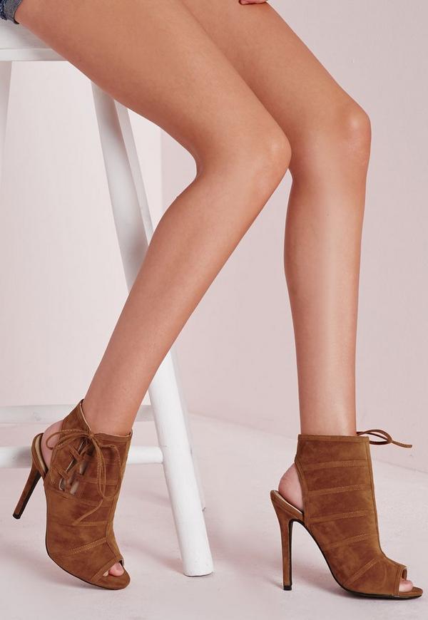 ankle tie heels photo - 1