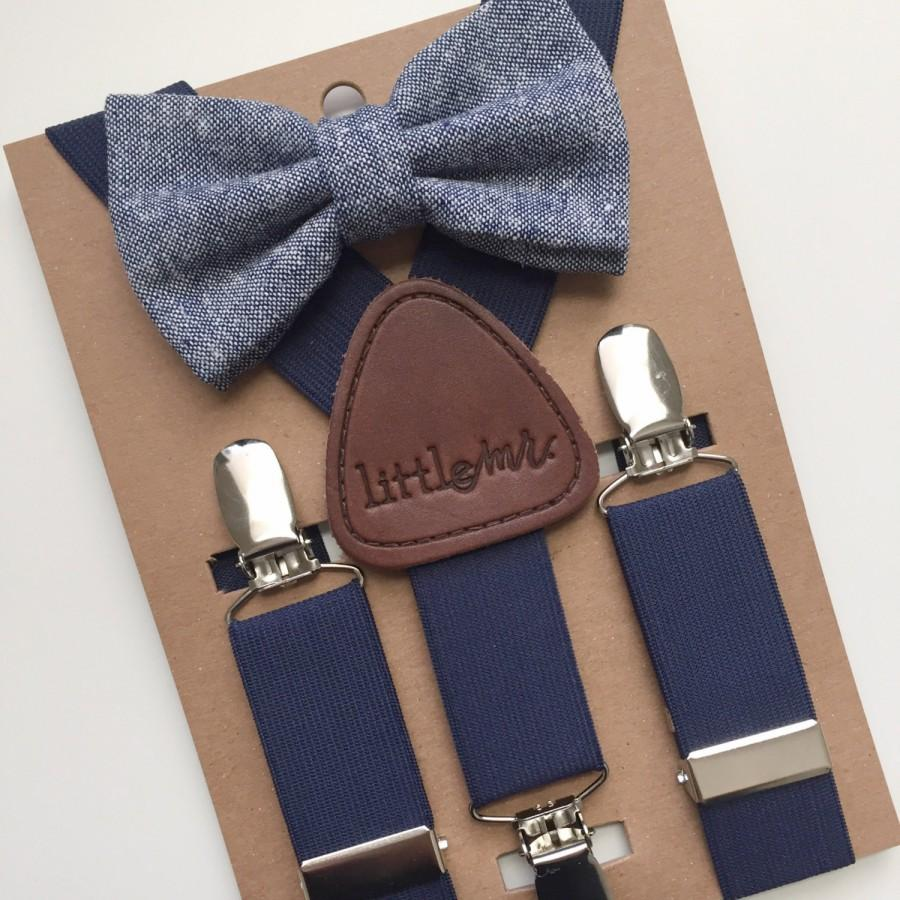 baby bow tie and suspenders photo - 1