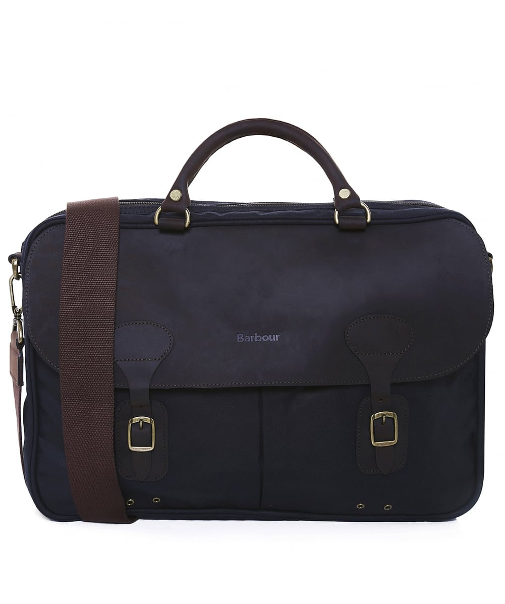 barbour wax leather briefcase photo - 1