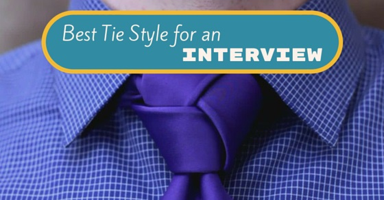 best tie knot for interview photo - 1