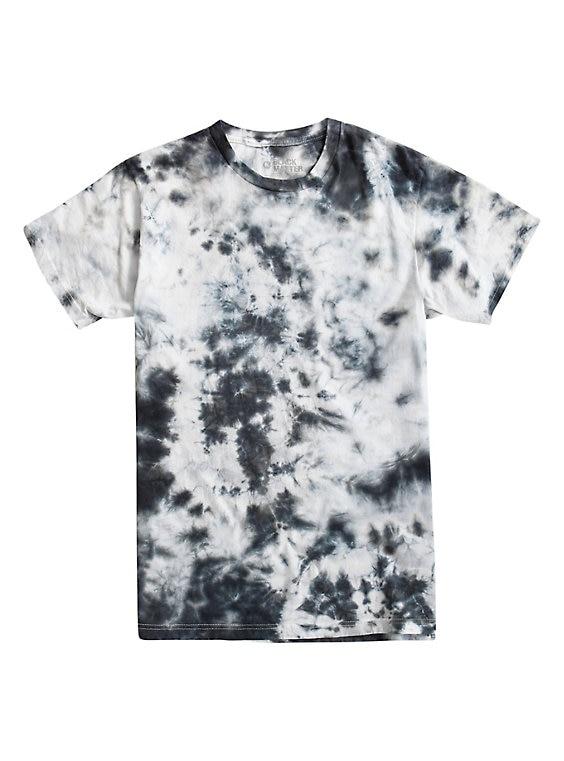 black and white tie dye shirt photo - 1