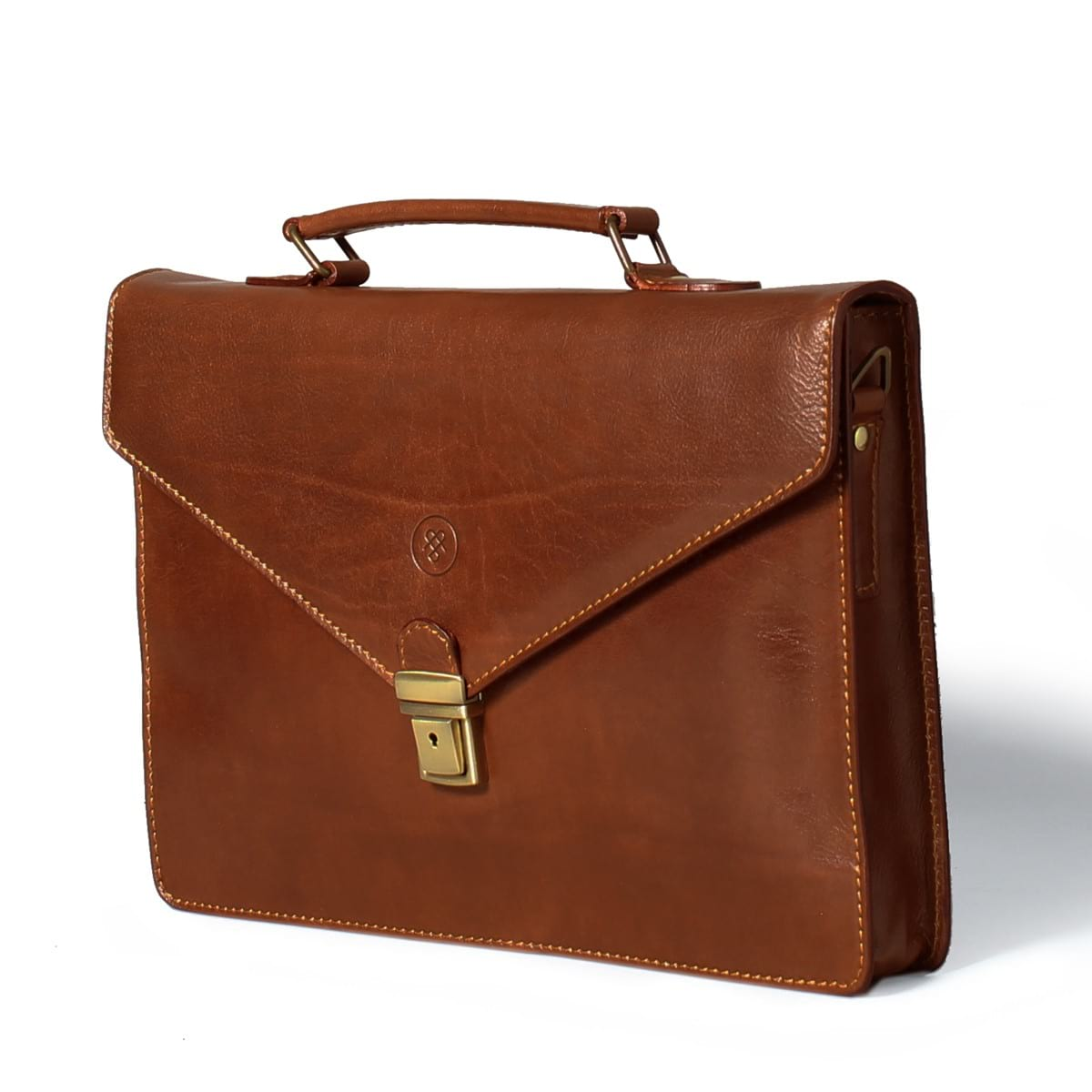 black leather briefcase photo - 1