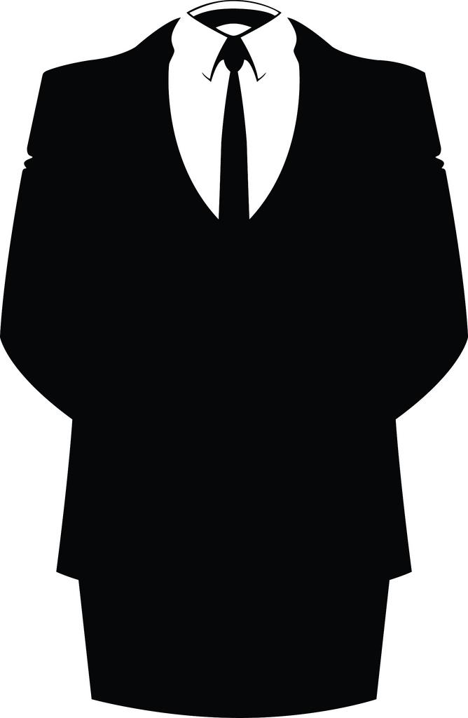 black suit and tie photo - 1