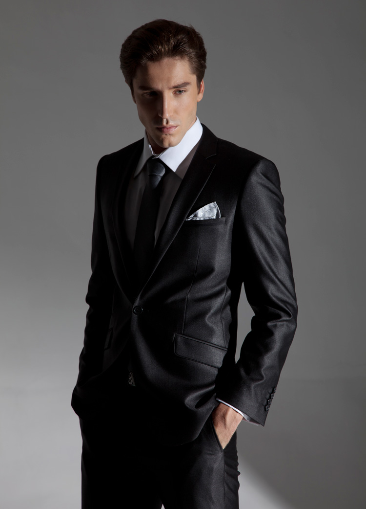 black suit for men photo - 1