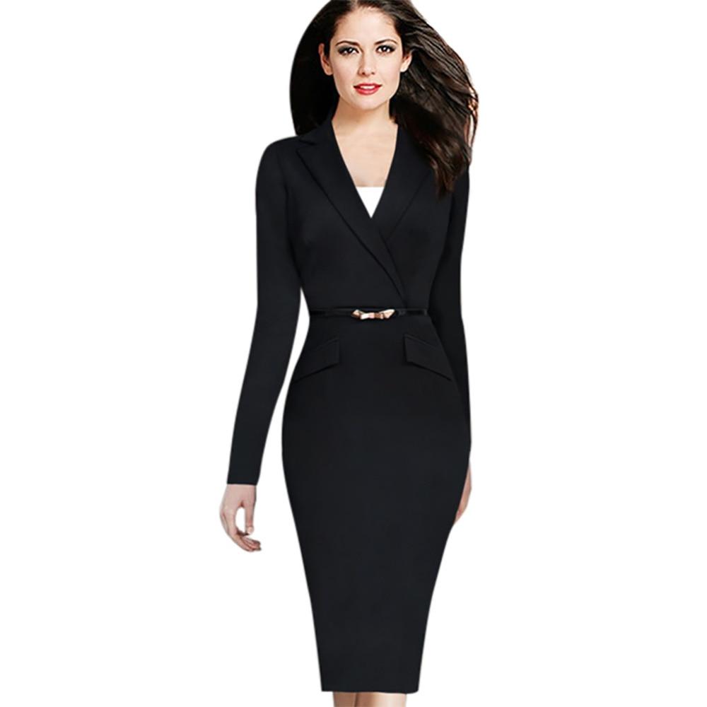 black suit women photo - 1