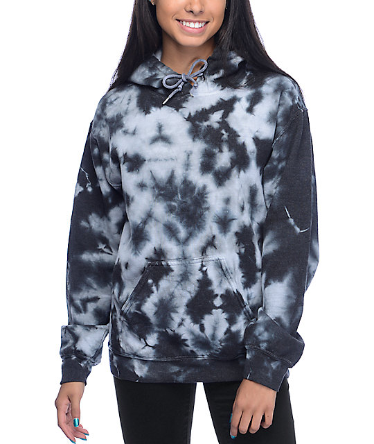 black tie dye hoodie photo - 1