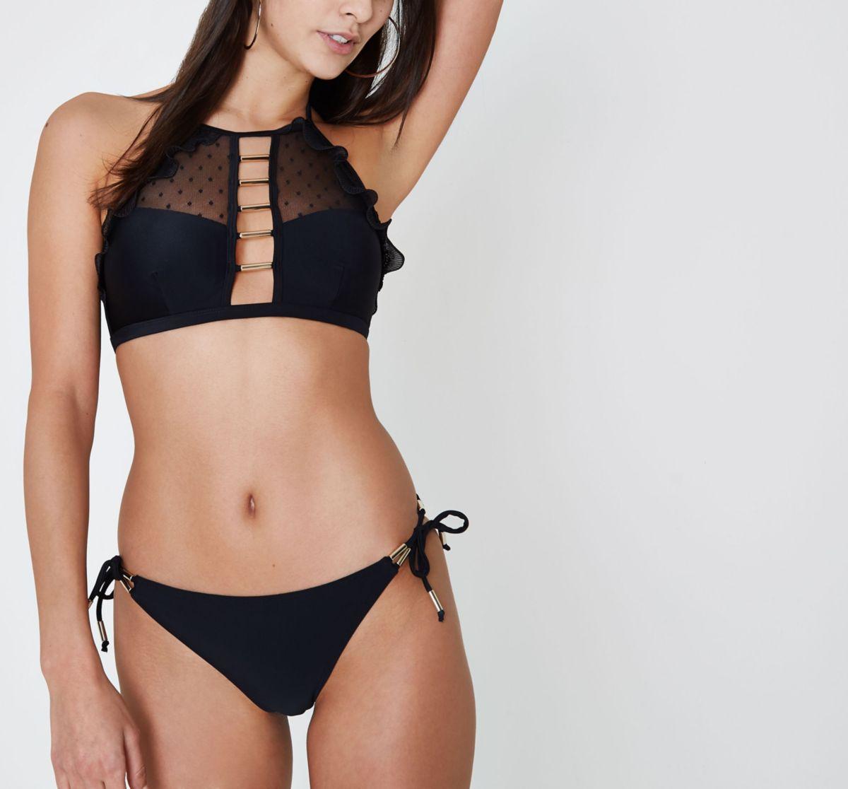 black tie side bikini bottoms photo - 1