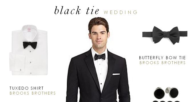 black tie wedding mens attire photo - 1