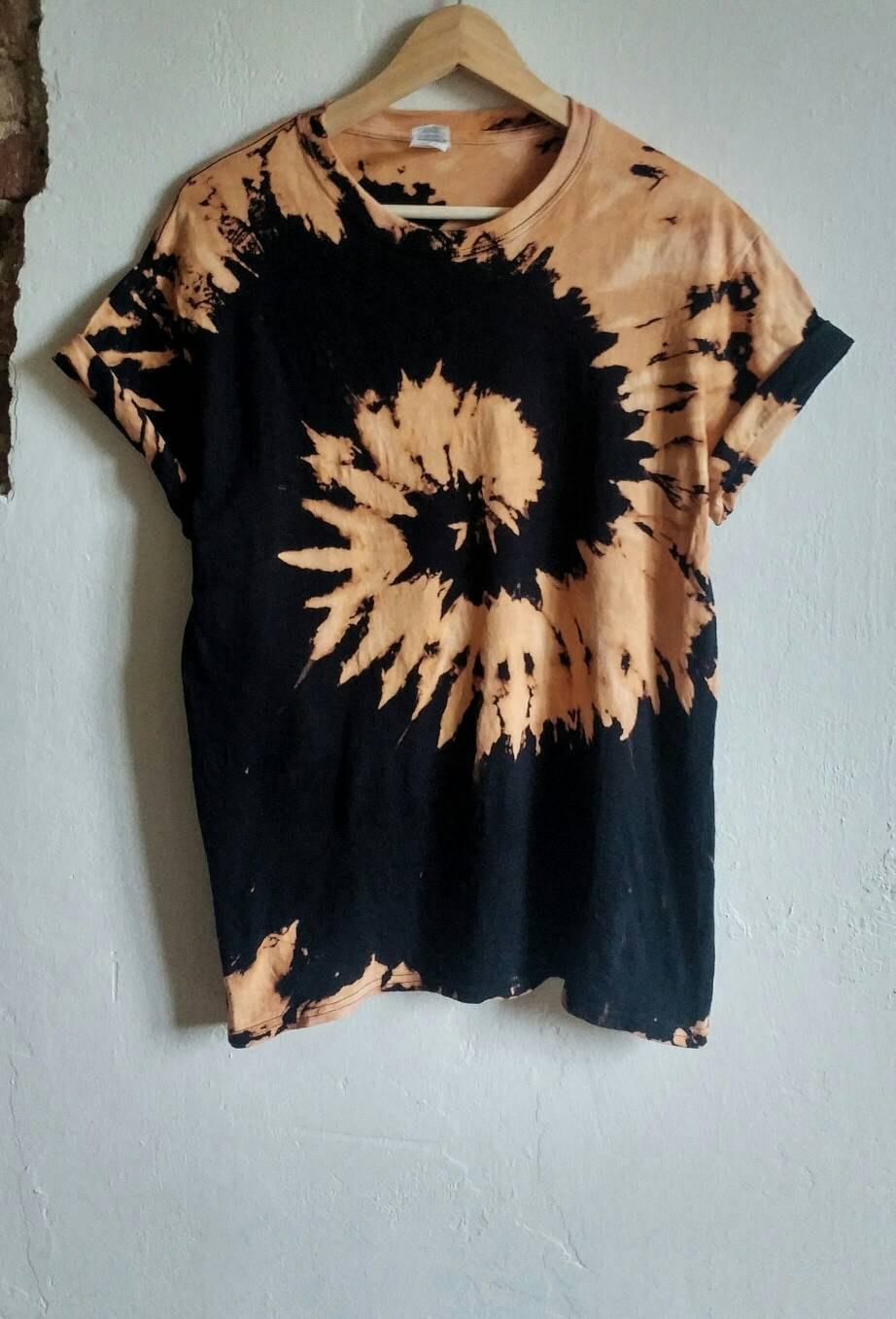 bleach tie dye shirt photo - 1
