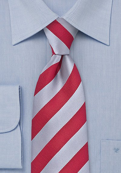blue and white striped tie photo - 1