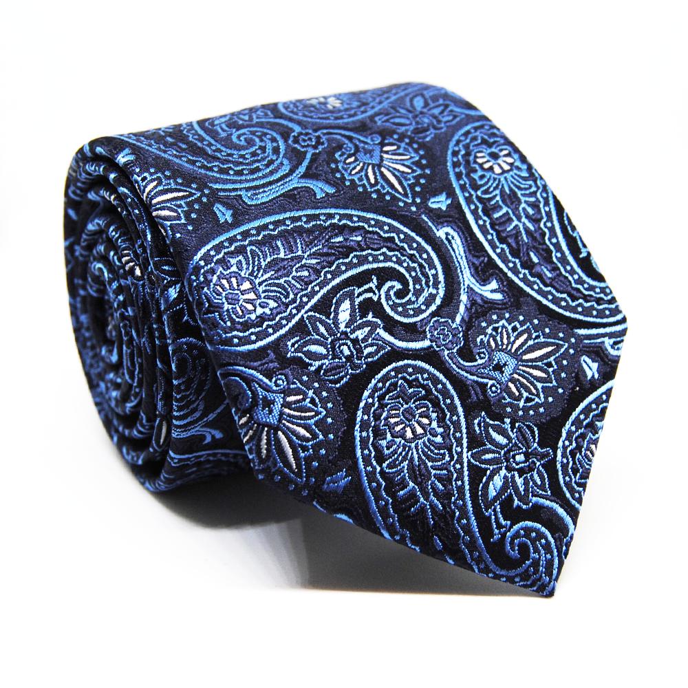 blue paisley tie photo - 1