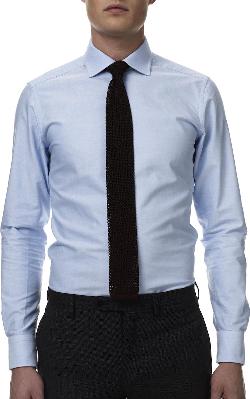 blue shirt green tie photo - 1