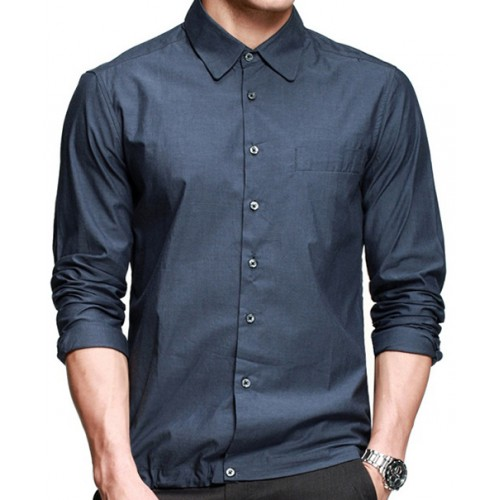 blue shirt styles for office photo - 1