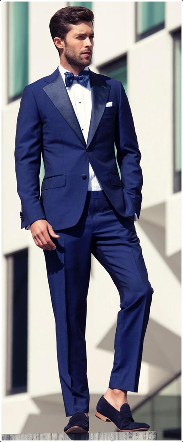 blue suit for men photo - 1