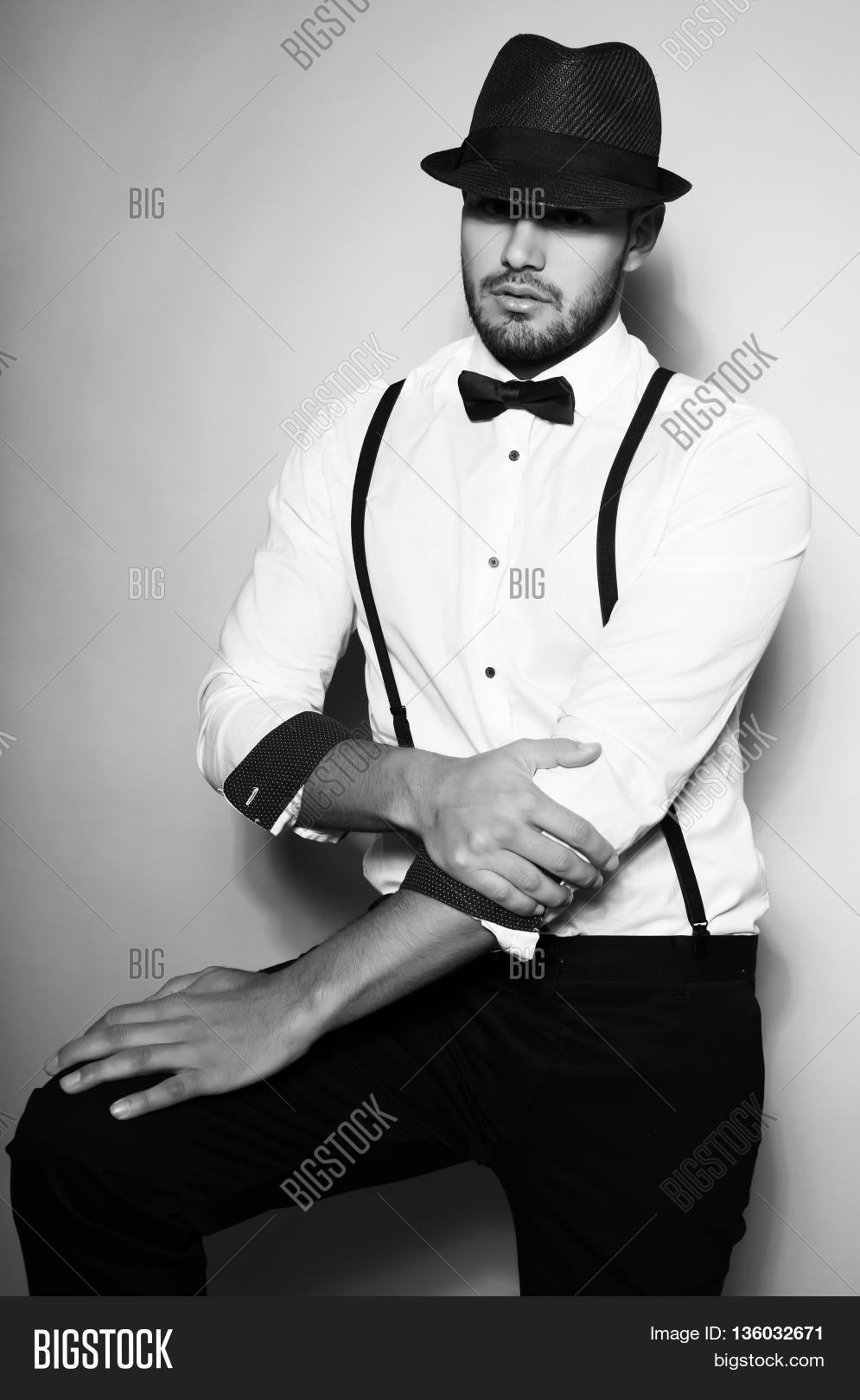 bow tie and suspenders photo - 1
