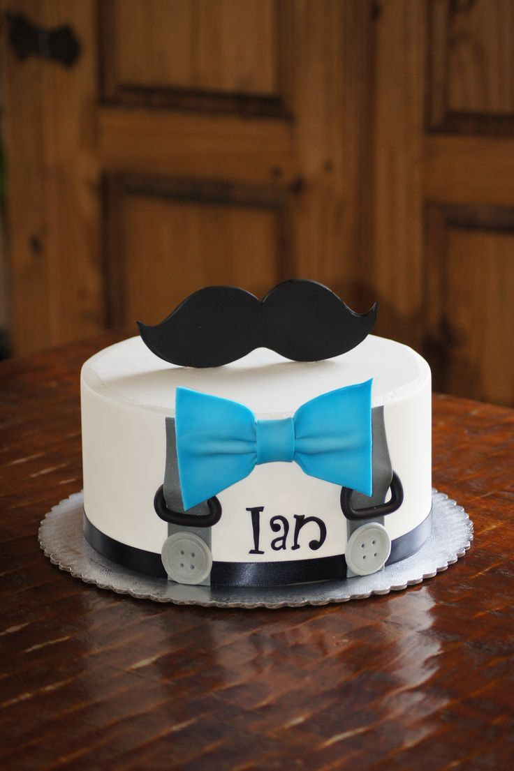 bow tie baby shower cakes photo - 1