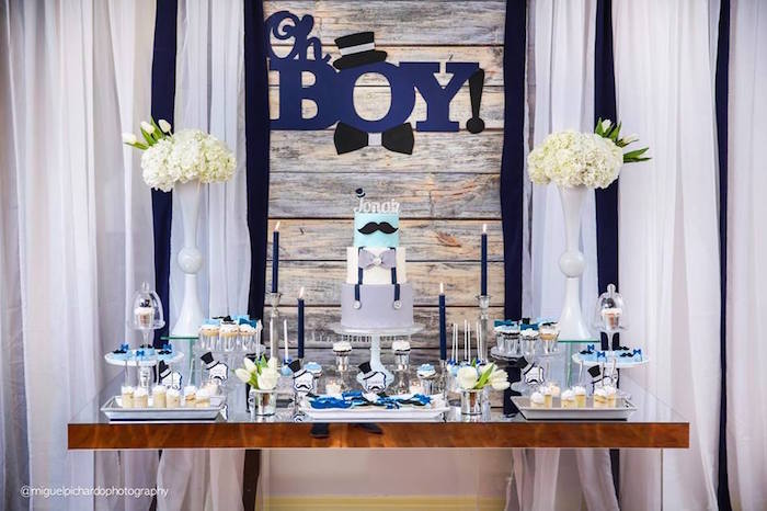 bow tie baby shower themes photo - 1