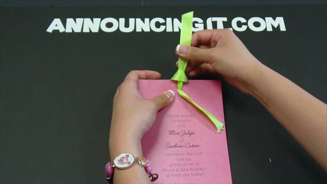 bow tie invitations photo - 1