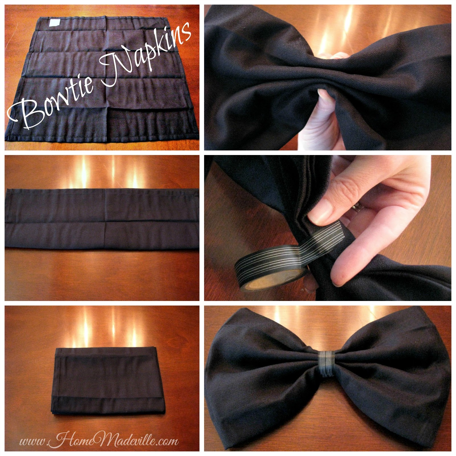bow tie napkin photo - 1