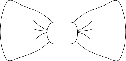 bow tie outlines photo - 1