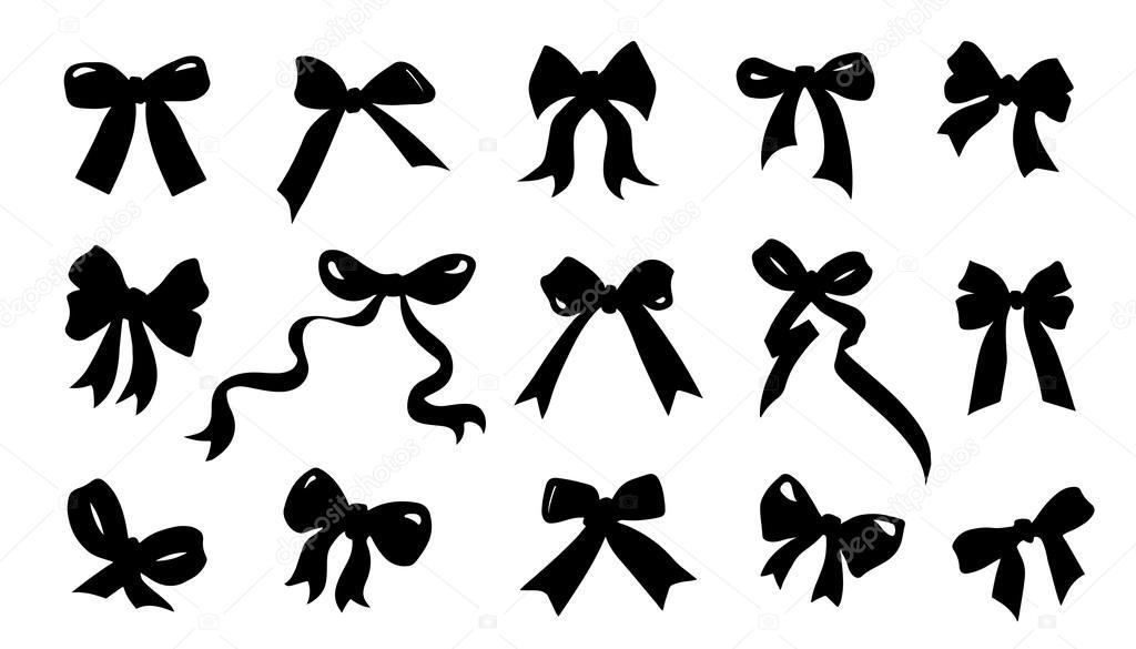 bow tie silhouette photo - 1