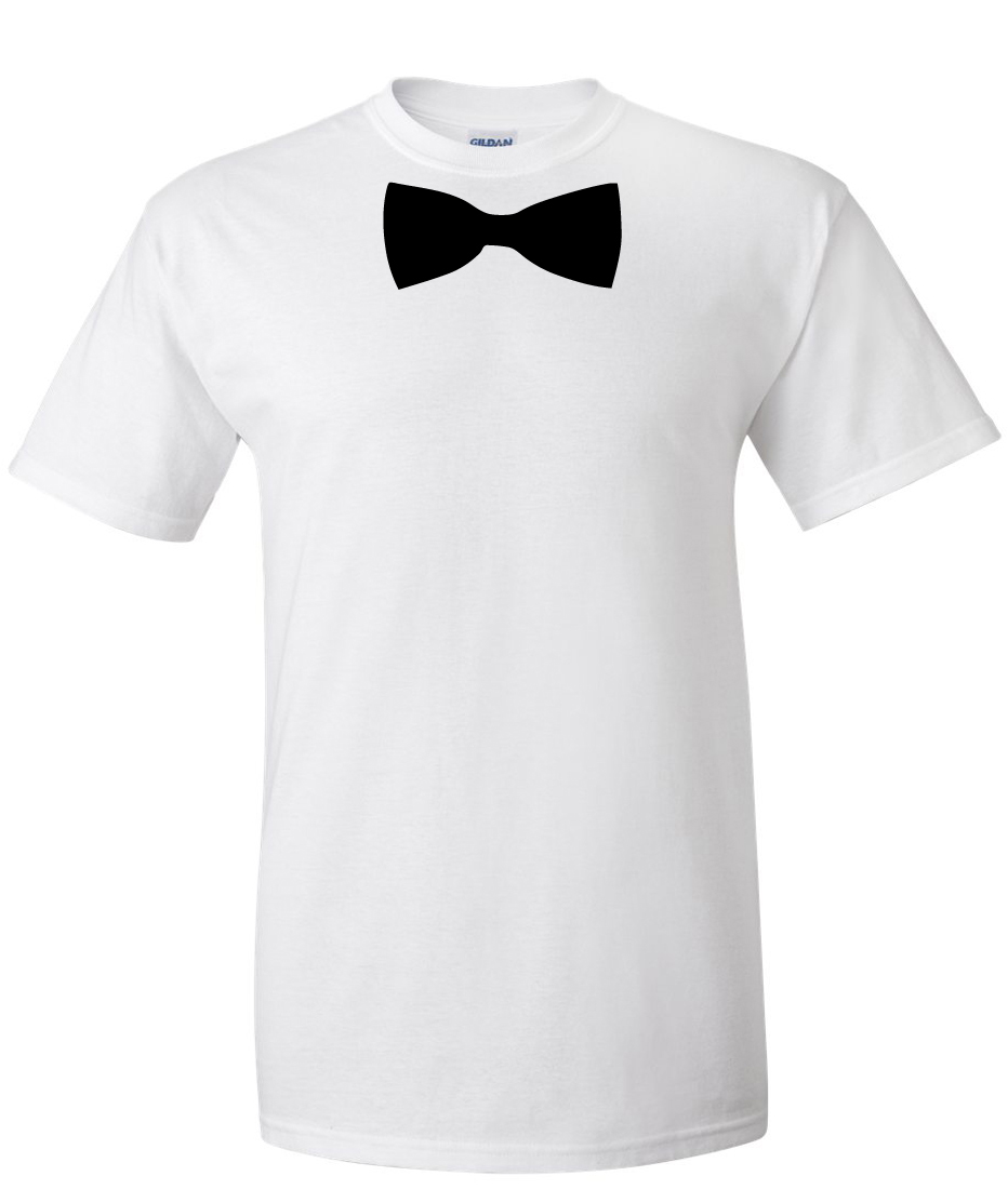 bow tie t shirt photo - 1
