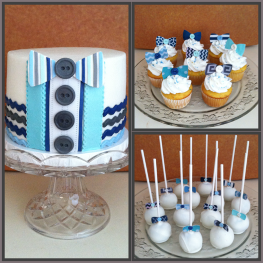 bow tie themed baby shower photo - 1