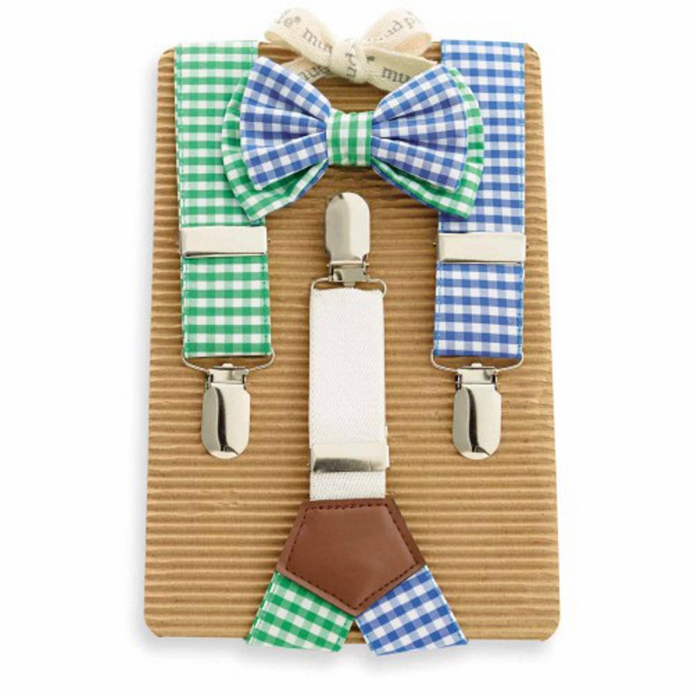 boys bow tie and suspender set photo - 1
