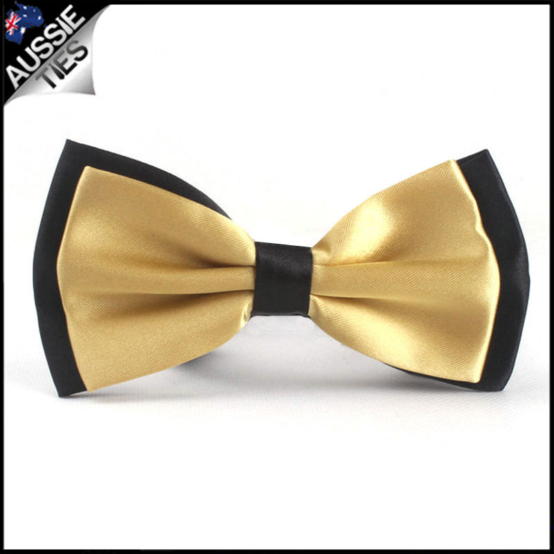 boys gold bow tie photo - 1
