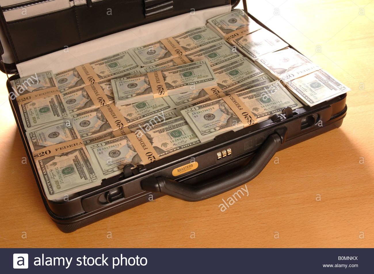 briefcase full of money photo - 1