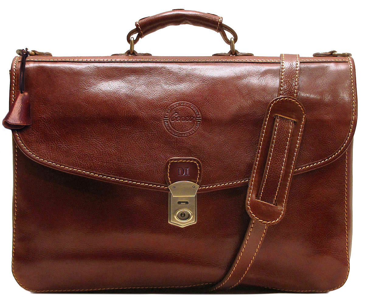 briefcase leather photo - 1