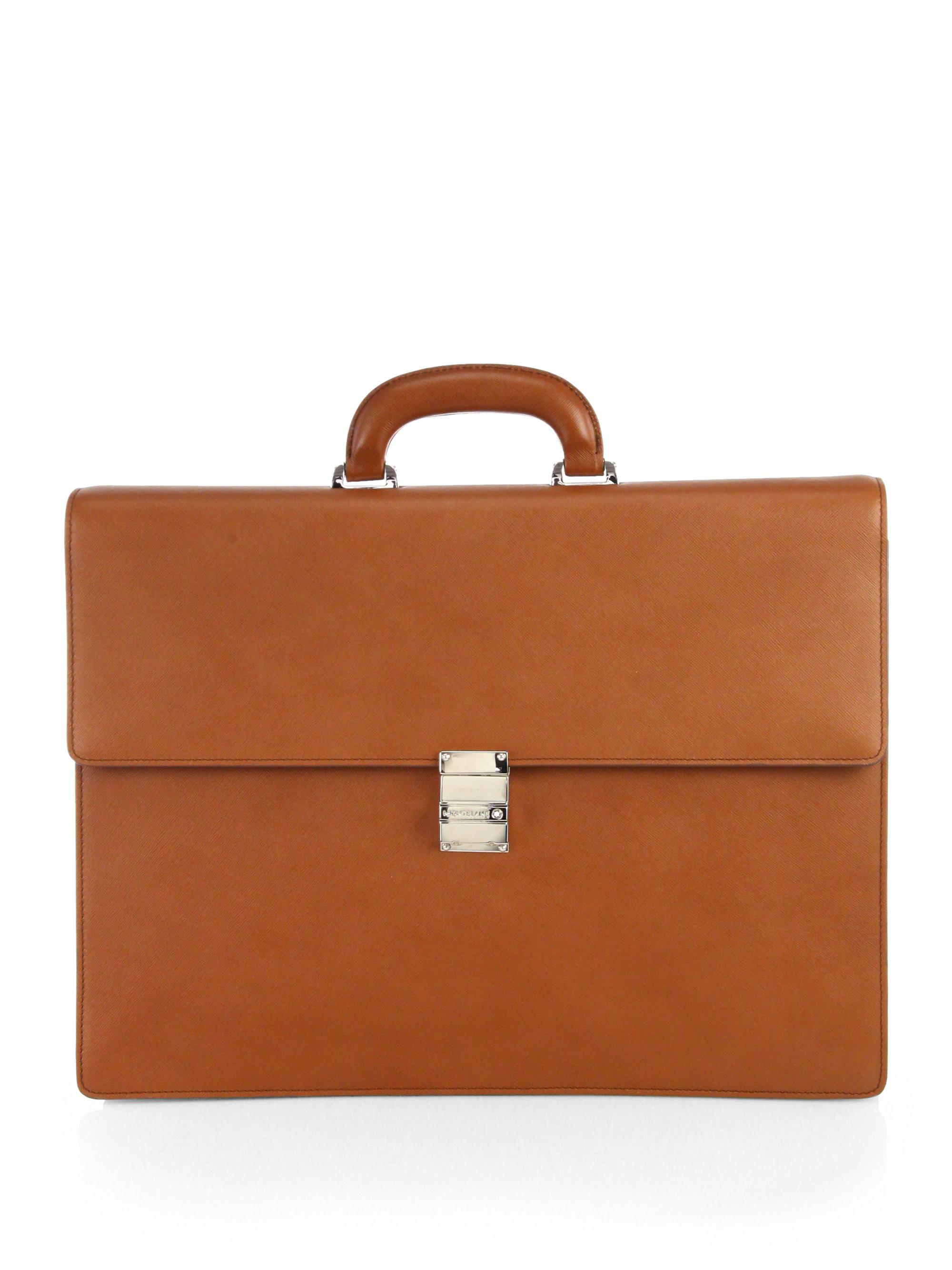 brown briefcase photo - 1