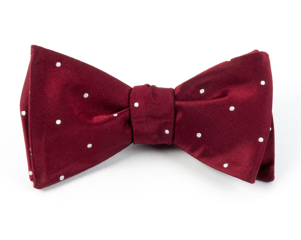burgundy bow tie photo - 1