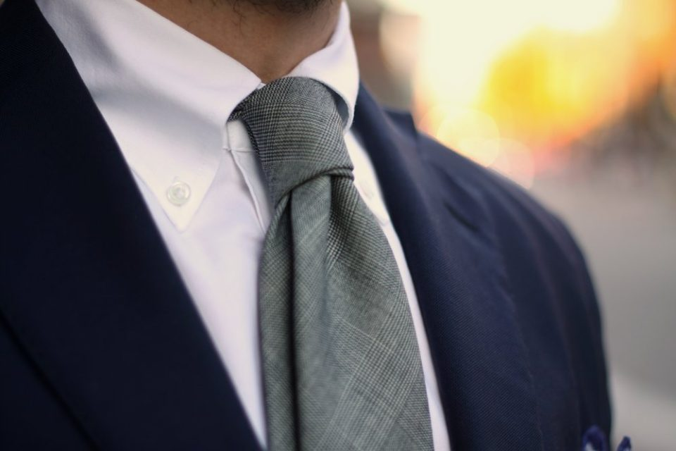 button down collar with tie photo - 1
