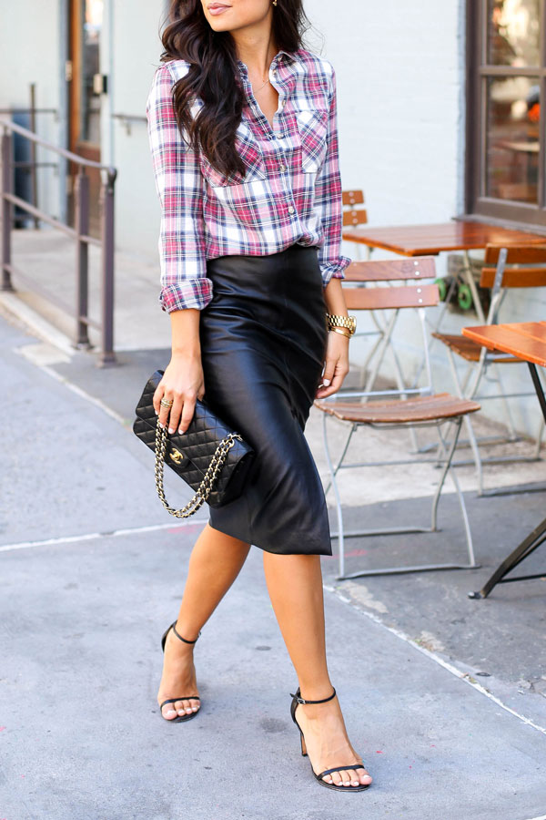 button up shirt w skirt for office photo - 1
