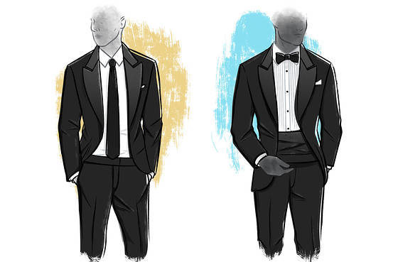 can you wear a tie with a tuxedo photo - 1