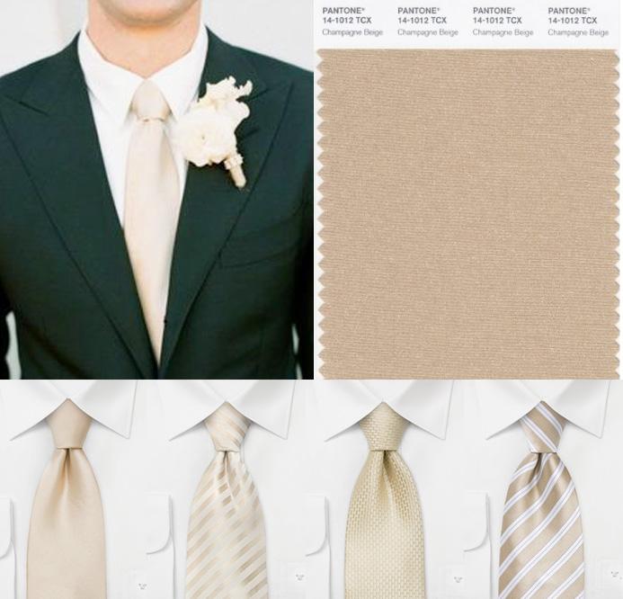 champagne colored tie photo - 1