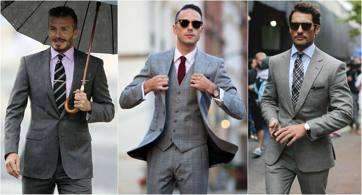 charcoal grey suit shirt tie combinations photo - 1