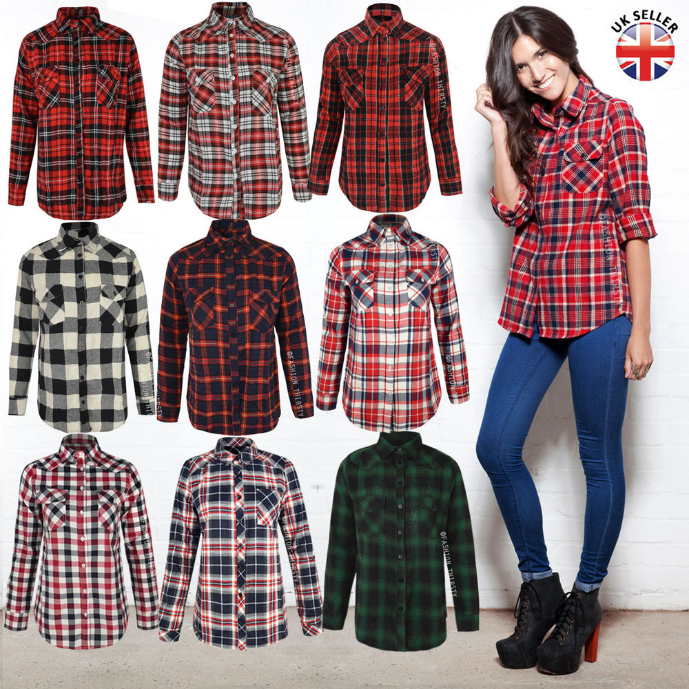 checked shirt for ladies office photo - 1