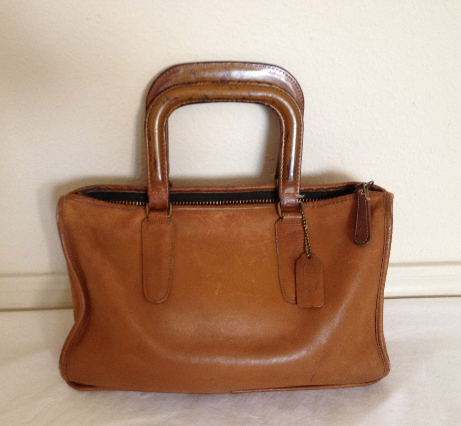 coach leather briefcase photo - 1