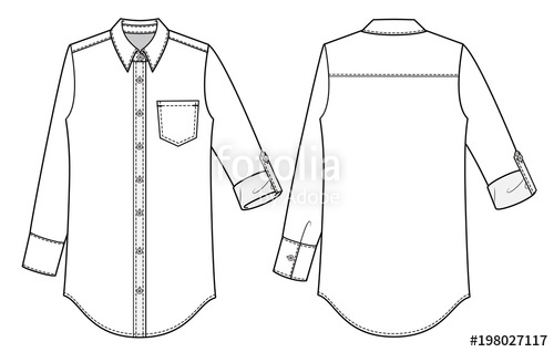 collar office shirt for women sewing drawing photo - 1