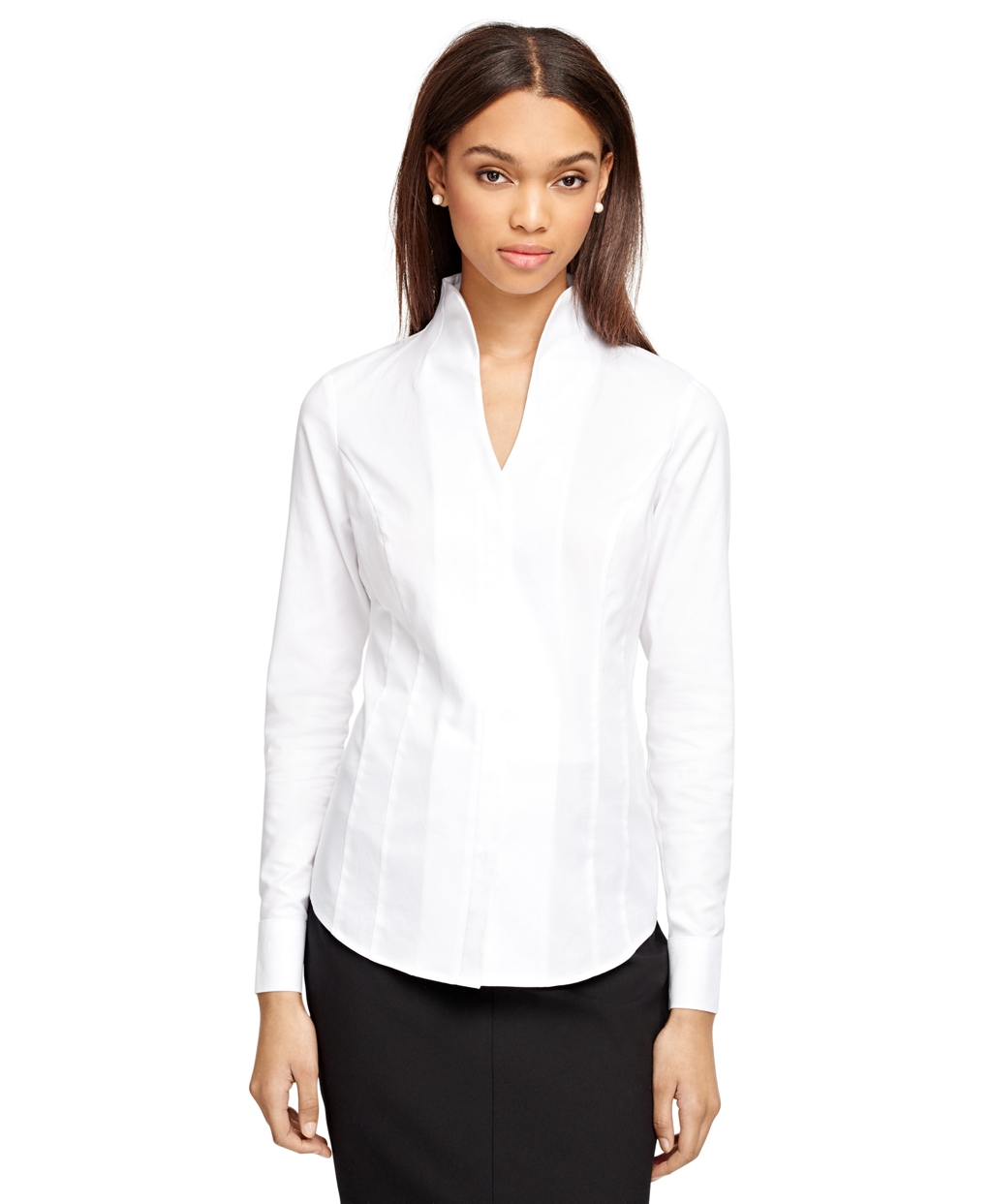 collarless shirt for office photo - 1