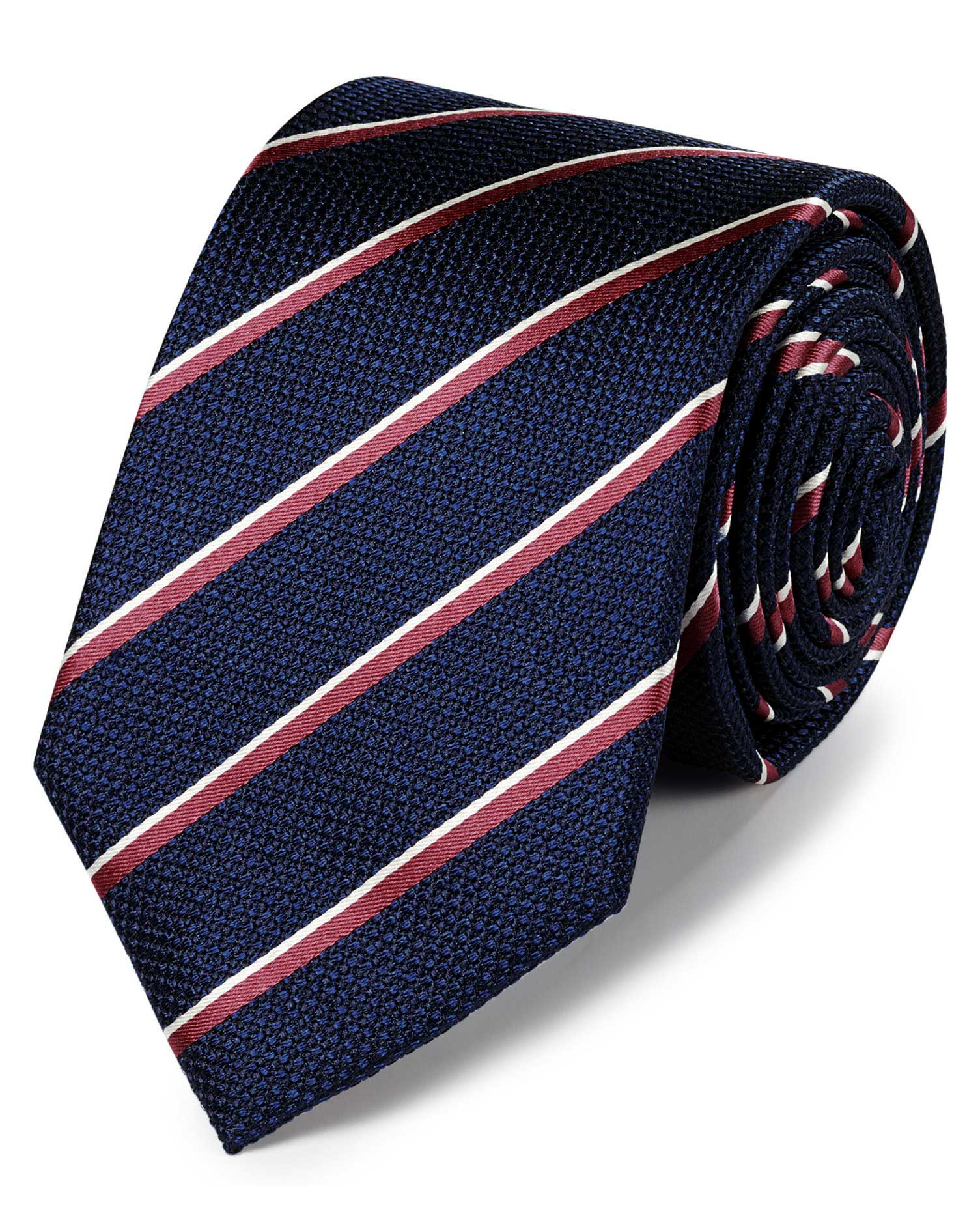 coral and navy tie photo - 1