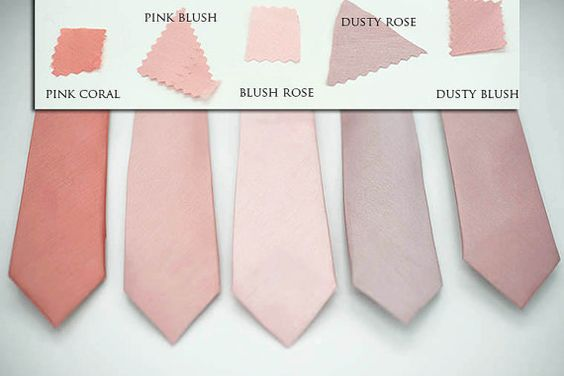 coral color tie photo - 1