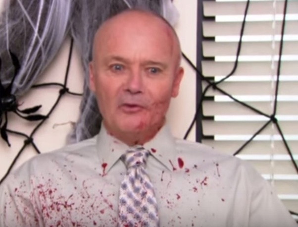 creed bloody shirt the office photo - 1